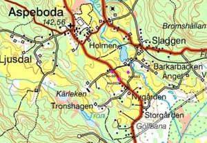 De tre borrhålen i Holmen i Aspeboda