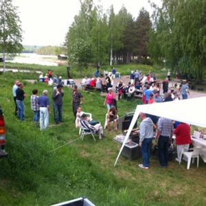 Mer än hundra Kårbölebor kom till nationaldagsfirandet på Skansen.