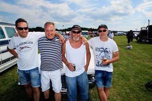 Ett härligt gäng. Från vänster: Niklas Hjalmarsson, Joakim Hjalmarsson, Johnny Arvidsson och Håkan
