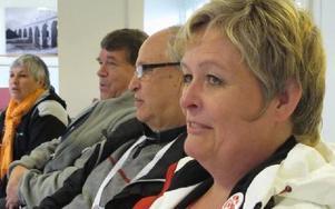 Socialdemokrater från Borlänge som kandiderar till landstingsfullmäktige. Från höger: Kristina Svensson, Bengt Lindström, Per Morelius och Fresia Lobos. Foto: KARIN SUNDIN