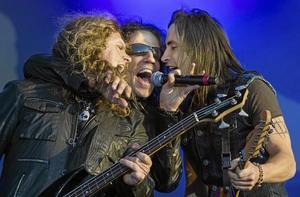 Manligt på rockscenen. Extreme uppträdde på Sweden Rock Festival, vars artistprogram i år var mansdominerat till 96 procent. Arkivfoto: Claudio Bresciani/TT