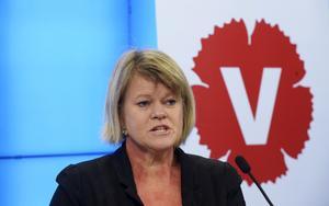 Skattehöjare. Vänsterpartiets ekonomiska talesperson Ulla Andersson presenterade partiets skuggbudget i går. Partiet vill höja skatterna mest.foto: scanpix