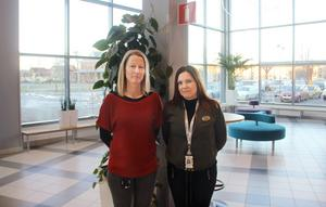 Ann-Sofie Gustafsson och Anna Kleemair, studie- och yrkesvägledare CFL.