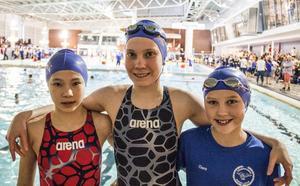 Filippa Eklund, Victoria Flyman och Clara Bergh.