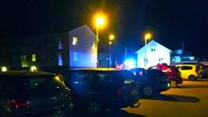 Här i Norberg pågick polisjakten på måndagskvällen.