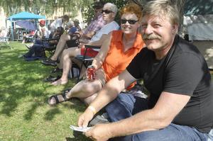 Lisa och Eriks Andersson lämnade hemorten för att ta del av festivalen i Torsåker. Trots att det under lördagen är Delsbostämman.