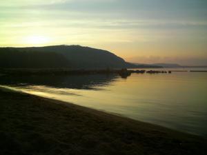 Himmel, hav och jord i Orbaden.Foto: Gunilla Norén