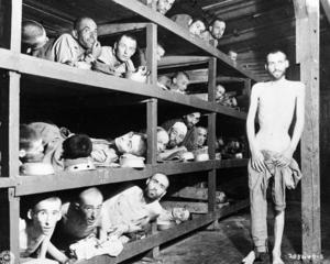 Fångar i koncentrationslägret Buchenwald.