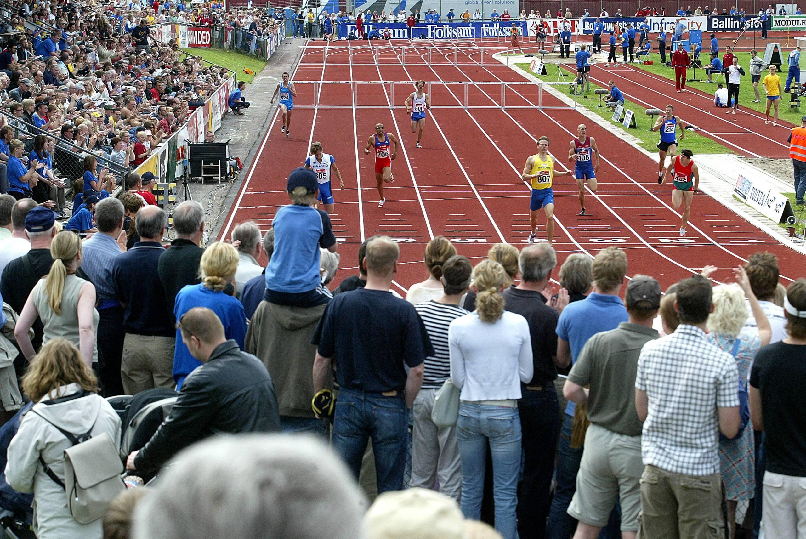 Sista tavlingen pa stadion