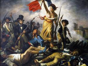 Friheten på barrikaderna av den franska målaren Eugène Delacroix.