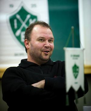 Nytt ansikte. Lennart Andersson tränare Brage den här säsongen. Foto:Mikael Hellsten