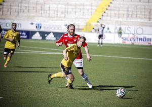 Robin Fryklund fick huvudrollen i IFK:s 3–3-match mot Söderhamn. Robin gjorde två mål och spelade fram till det tredje.