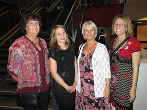 Eva-Britt Wahlberg, Sofia Olsson, Lisbet Frank och Anna Öhman från psykiatrin i Gävleborg såg fram emot en festlig kväll.