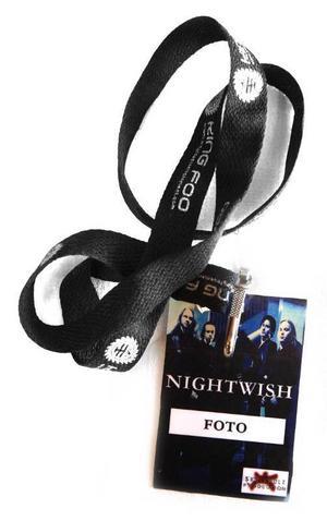 Fotografpass till finska bandet Nightwish.