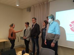 Erik Löfgren (mitten) utsågs under torsdagen till ny ordförande för landstingsstyrelsen.