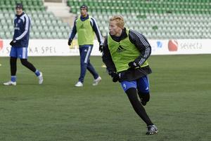 Tobias Eriksson, här på en träning med GIF Sundsvall.