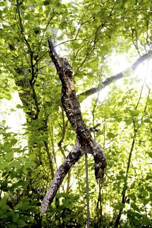 Långsam dans i bersån. En av Anette Segerbergs graciösa träklumpar till dansare.