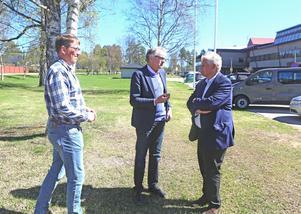 Anders Häggkvist och Per Åsling träffade Thomas Pålsson, generaldirektör för Statens servicecenter.