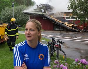 Samlingslokalen Knytpunkten på Råby är totalförstörd. Lokalen hyste kultur- och fritidsverksamhet, och innehöll även reningsverket till Fredriksbergsbadets simbassäng.