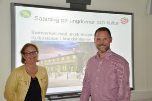 Bilden är från i maj 2014, när Miljöpartiets Lotta Öhlund och Socialdemokraternas Andreas Svahn presenterade budgeten för 2015.Arkivfoto: Katarina Hanslep
