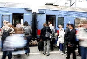 Några av 23 207 som pendlade till och från Västerås 2010.