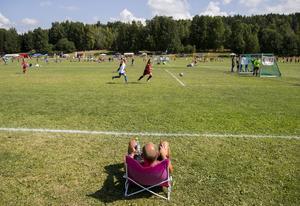 Fotbollsförälder på ungdomsturnering i Oslo.