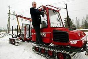 Foto: LARS WIGERT Nysatsning. Skogs-Jan Eriksson ska efter 15 mars köpa Alcab THT som bland annat tillverkar den finska skogsmaskinen Terri.