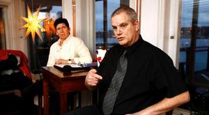 Roslagens nya parti. Ordförande Anders Franssono och vice ordförande Robert Johansson.