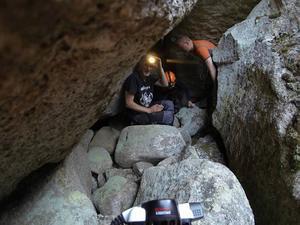 Jocke Mårdstam på en av sina grottexpeditioner. Foto: Privat