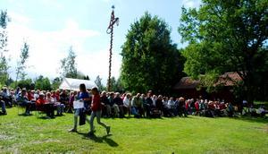 När SA var på Färnboparaden vid 13-tiden på lördag, var deltagarna ungefär 500 stycken. Förra året låg siffran på 1100 personer. Foto: Lina Svalbro