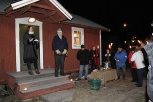 Katarina Widoff håll nyårstalet i Stocka.