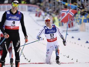 Carl Quicklund fick se sig en placering efter kollegan Jens Burman, Åsarna.