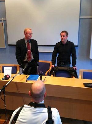 Medieintresset var stort när åtalet presenterades vid en presskonferens i Falun av åklagaren Niclas Eltenius och it-forensikern Eric Marsh.