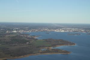 Var på flygtur med min kompis Sven, passade på att ta lite bilder och knäppte den här bilden av Västerås!