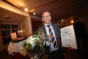 Årets företag blev Höga Kusten Teknikresurs - ett pris som togs emot av Stefan Andersson.