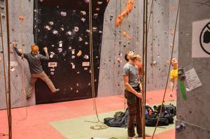 klättring, klätterhall, rep, KFUM, Borlänge