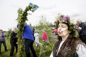 Carina Grahn-Hellberg från Krokom är rutinerad sånganförande när Rödön anordnar midsommarkalas.