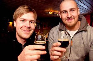 Mats Gustavsson och Christian Björklund testade en belgisk ale.