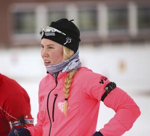 Felicia Lindquist är uppfostrad i Hede, meh har numera bytt till Östersund Biathlon.