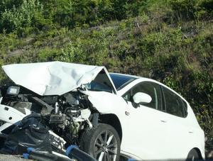Ett larm om en trafikolycka på riksväg 68 söder om Avesta kom in på torsdagsmorgonen.
