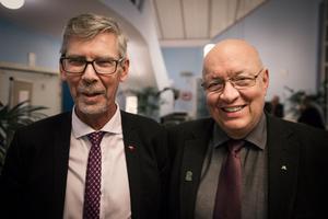 Gunnar Barke (S) och Ulf Berg (M).