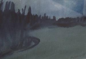 Jämtländska landskap finns på många av de målningar som Stig Sjöberg just nu visar på Härke.