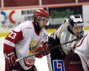 Petter Mattsson blev tvåmålsskytt, men gick ändå av isen som förlorare i HSK:s match mot Visby/Roma.
