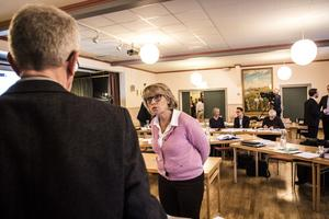Kommunalrådet Maria Söderberg (C), i Krokom, under domstolsförhandlingen om fiskodlingen.