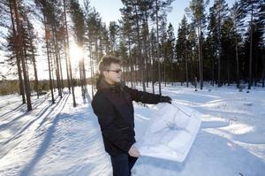Skog ska avverkas. Kommunens projektledare Mats Pierrou studerar ritningarna för etapp 3 av Hemlingby    köpcentrum. I februari börjar kommunen avverka skog där de nya varuhusen ska stå. En ny jätterondell ska även anläggas vid trafikplats Gävle Södra.