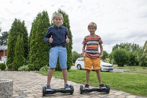 Hoverboarden kostar runt 3000 - 4000 kr