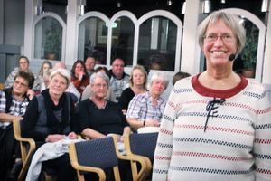 Annika Dahlqvist föreläste med stort engagemang om sin omdiskuterade kostmetod LCHF i Söderhamn på onsdagen. Hon drog en stor och intresserad publik till Ferdinand.
