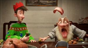 Julromantik. Arthur och gammeltomten ger sig ut på en kamp mot klockan för att leverera en julklapp som glömts bort.
