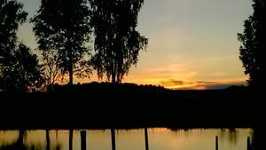 Nationaldagen bjöd på en fin solnedgång.