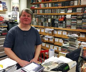 Ingemar Magnusson driver skivbutiken Folk å rock i Borlänge.